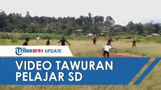 Viral Video Tawuran Antar-pelajar SD di Sukabumi, Masih Pakai Seragam dan Bawa Senjata Tajam