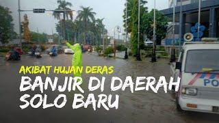 Banjir Rendam Daerah Solo Baru Sukoharjo, Banyak Kendaraan Mogok karena Memaksa Melintas
