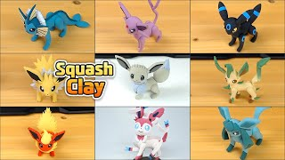 Pokémon Clay Art: Eeveelution!! Satisfying video