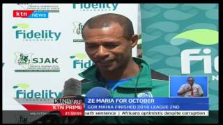 KTN Prime: Gor Mahia's coach Ze Maria is awarded the Coach of the month for steering Gor Mahia