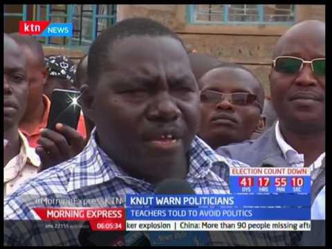 KNUT warn politicians : Teachers told to avoid politics