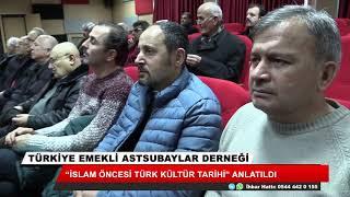 """Konya'da """"İslam Öncesi Türk Kültür Tarihi"""" anlatıldı"""