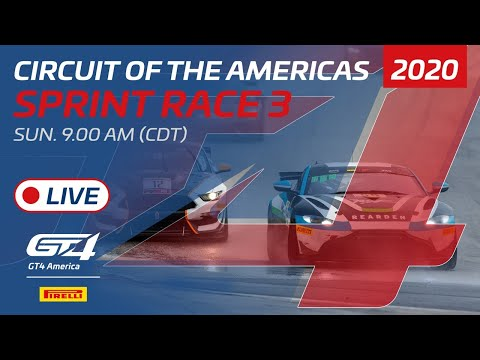 2020年 ブランパンGTワールドチャレンジ・アメリカ(COTA)GT4SPINT レース3 レースライブ配信動画