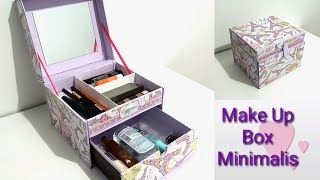 DIY How to make a makeup box minimalis | DIY makeup organizer