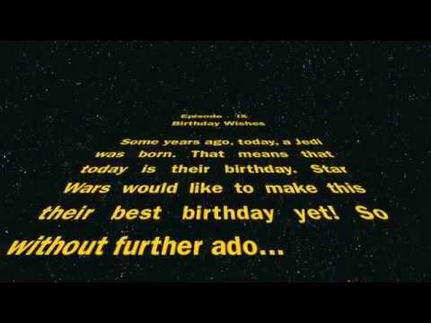 Titel: Happy Birthday From Star Wars