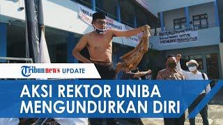 Mahasiswanya Demo, Rektor Uniba Solo Ikut Aksi Sampai Buka Baju Lalu Mengundurkan Diri