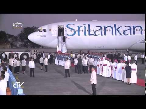 Accueil du Pape François aux Philippines