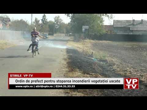 Ordin de prefect pentru stoparea incendierii vegetației uscate