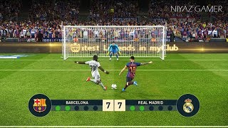 FC BARCELONA vs REAL MADRID   El Clasico   Penalty Shootout   PES 2019 Gameplay PC