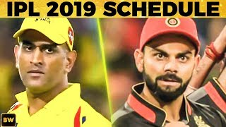 CSK vs RCB - 1st Match Countdown Begins!! | IPL 2019 Schedule | Dhoni | Kohli