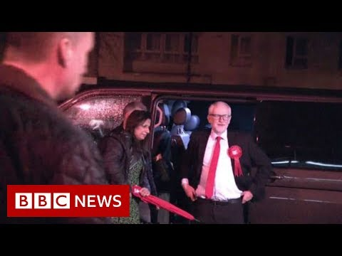 Jeremy Corbyn arrives at count in Islington – BBC News