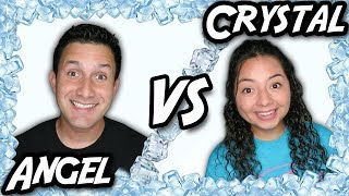 Angel VS Crystal - Ice bath Challenge