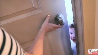 1yr OLD LOCKED US OUT!!!!