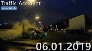 Подборка аварий и дорожных происшествий за 06.01.2019 (ДТП, Аварии, ЧП, Traffic Accident)