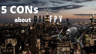 5 CONs about DJI FPV drone - what I don't like #shorts