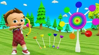 Little Baby Fun Play Learning Colors for Children with Bow & Archery Target 3D Toys for Kids Toddler