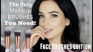 Face Makeup Brushes For Beginners   Start With Just THREE Brushes!