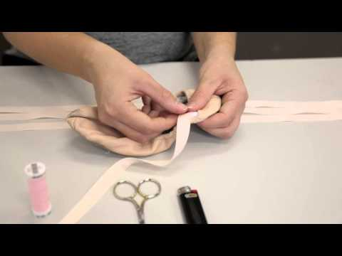 Premier School of Dance: How to sew ribbons on flat ballet shoes
