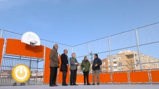 El alcalde visita la nueva zona deportiva de San Roque.- Badajoz Online Tv