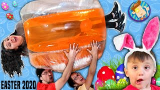 EASTER in a BUBBLE!  Social Distancing Fun at Home (FV FAMILY 2020 Holiday Vlog)