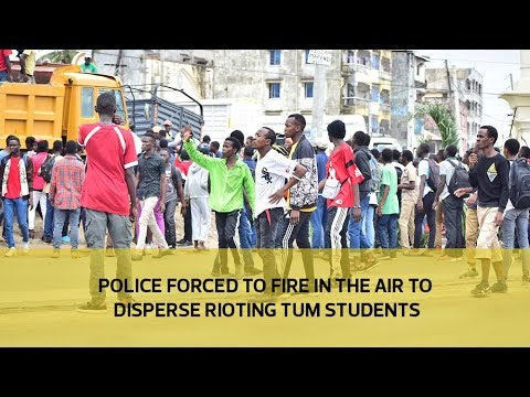 Police forced to fire in the air to disperse rioting TUM students