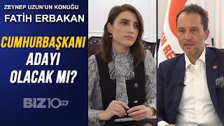 Yeniden Refah Partisi Genel Başkanı Fatih Erbakan Biz10TV'de/ Cumhurbaşkanı Adayı Olacak mı?