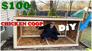$100 DIY CHICKEN COOP And RUN (BIG, Cheap & Easy)
