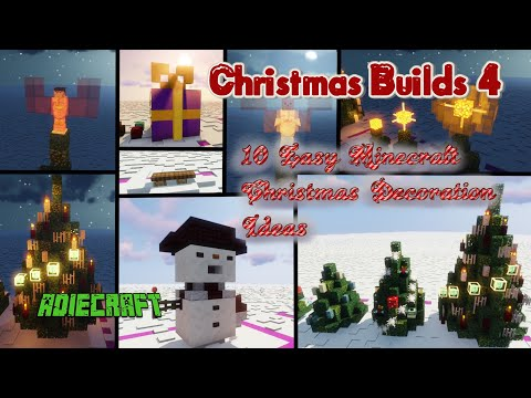 10 Easy Christmas Decoration Ideas Minecraft Map