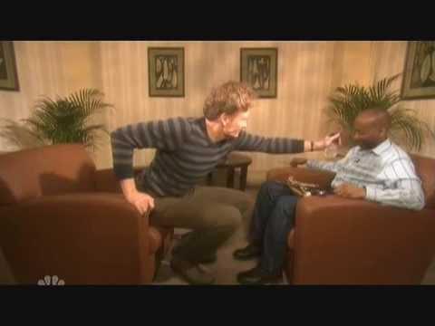 Conan vyslýchá Pierra Bernarda