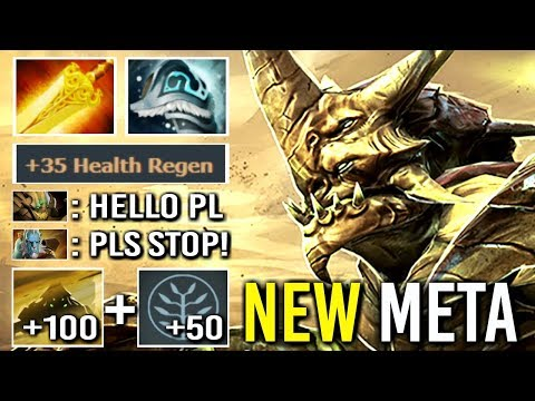 NEW META 215 DPS BURN Imba Sand King Counter PL Raid Boss Build by Saksa vs GH Epic Gameplay Dota 2