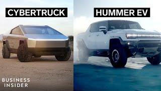 How Tesla's Cybertruck Stacks Up Against The Hummer EV