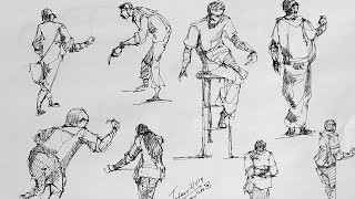 Force Drawing Method For The Human Figures Live Sketching |Daily Sketching Practice /SketchBook