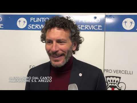 Pro Vercelli-Arezzo 1-0, intervista a Dal Canto