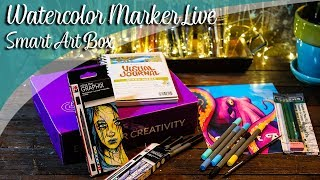 Watercolor Markers LIVE & art chat - Lachri