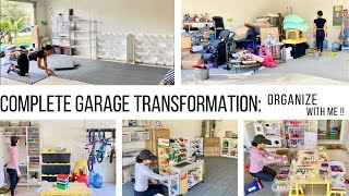 COMPLETE DISASTER GARAGE TRANSFORMATION!! // ORGANIZE WITH ME // Jessica Tull cleaning motivation