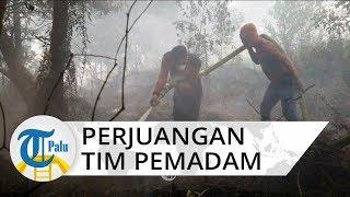 Kisah Tim Satgas Darat yang Padamkan Api Karhutla