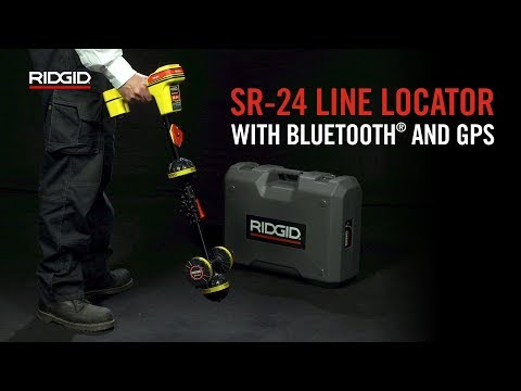 RIDGID SeekTech SR-24 Line Locator with Bluetooth® and GPS Video