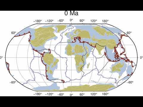 Рух тектонічних плит нашої планети за 40 секунд