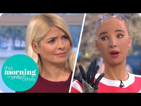 Phillip & Holly Interview This Morning's First Robot Guest Sophia   This Morning