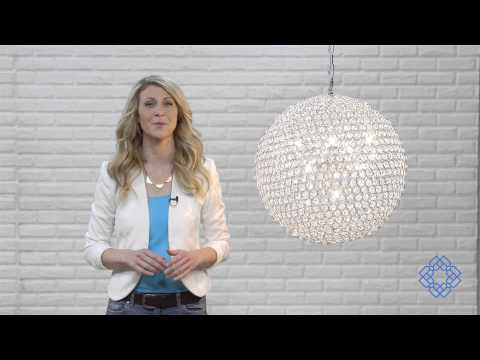 Video for Cabaret Chrome Nine-Light Pendant with Royal Cut Crystal