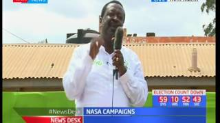 NASA leader Raila Odinga leads rally in various parts of Taita Taveta County