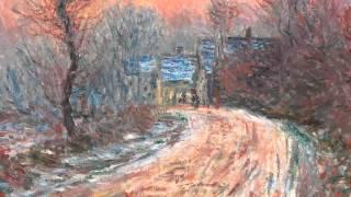 Entrée de Giverny En Hiver, Soleil Couchant (Monet)