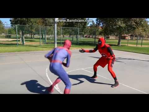 deadpool vs spıderman basketbol (видео)