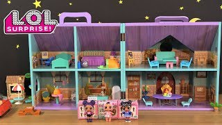 LOL Surprise Dolls Sleepover In Fairy Doll House With LOL House Tour And Mystery LOL Doll Toys