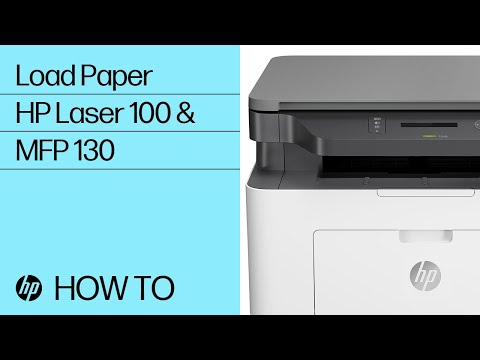 Loading Paper in the HP Laser 100 and MFP 130 Printer Series