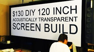 HUGE SPANDEX Projector Screen for Home Theater
