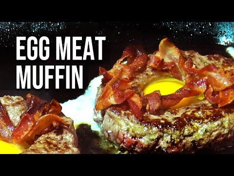 Egg Meat Muffin Burger recipe
