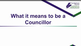 What it means to be a councillor