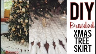 DIY: How To Make A Braided Christmas Tree Skirt - By Orly Shani