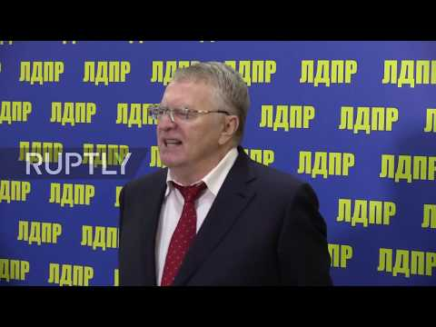 Russia: LDPR leader Zhirinovsky announces sixth presidential bid